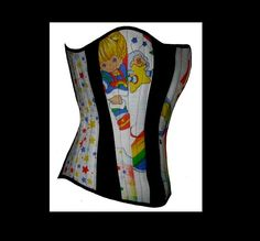 Rainbow Bright Corset - http://www.etsy.com/listing/18111769/your-size-boned-corset-top-rainbow-brite?ref=cat3_list_9