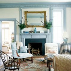Beautiful painted woodwork, featured in Southern Accents