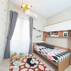 rumah minimalis Minimalist Home, Living Room Designs, Beautiful Homes, Toddler Bed, Shabby Chic, Room Decor, Kids Rugs, Comfy, House Design