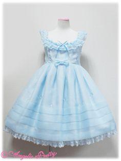 Angelic Pretty   Glass Doll JSK in Sax (Blue)