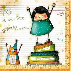 """Carte carrée Morgane Devillers """"Moi je veux être grande comme..."""" - Arret-sur-image.eu"""