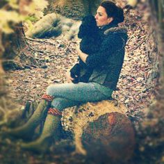 Kate Middleton Cuddles With Lupo While Camping With the Scouts: ~ Even future Queens like to cuddle