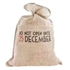 East of India Do Not Open Until 25th December Hessian Sack £5.95