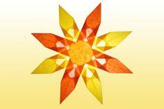 8 Zackiger gelb oranger Stern
