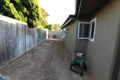 mid-century modern landscaping before picture