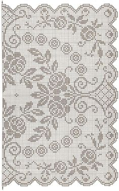 This Pin was discovered by Tat Crochet Patterns Filet, Crochet Doily Diagram, Funny Cross Stitch Patterns, Crochet Motif, Crochet Doilies, Crochet Cross, Crochet Home, Thread Crochet, Diy Crochet