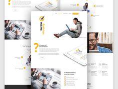 Landing Page Design for Norton