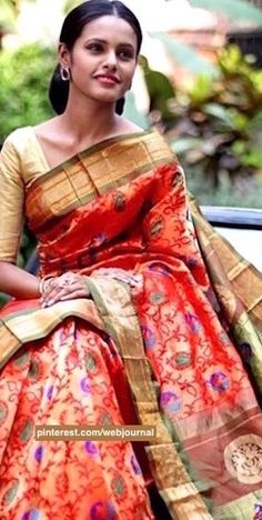 Handwoven Paithani silk from Shatika