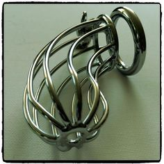 Steel Chastity Cage – Lord Kink Steel Chastity Cage R 535.00  Cage his cock with this nifty device!