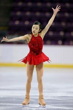 Marin Honda of Japan skates during the junior ladies free skate at World Arena on September 5, 2015 in Colorado Springs, Colorado