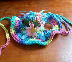 Crocheted Cat or Dog Sunhat Summer Pet Bonnet Spring by Fancihorse
