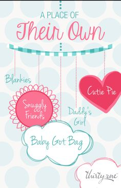 Great personalization ideas for babies and kids! Let me help you organize your nursery or kid's room. www.mythirtyone.com/rachelacree