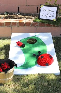"Kid's Birthday Activity: ""Ladybug Leaf Toss"""