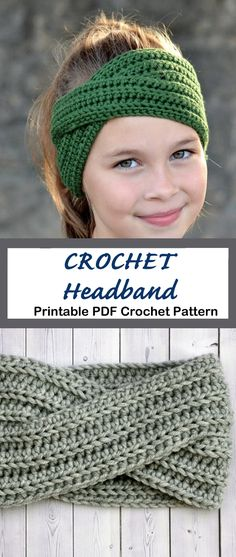 Make a Cozy Headband - - Looking for your next quick crochet project? Crochet Headband Patterns are great, they don't take long and make great cozy gifts. There are lots of different ear warmer patterns to try. Easy Crochet Headbands, Easy Crochet Hat, Crochet Twist, Cute Crochet, Crochet Baby, Knit Crochet, Crochet Hairband, Doilies Crochet, Crochet Crafts