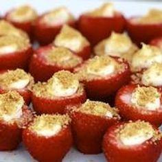 Healthy Cheesecake Stuffed Strawberries