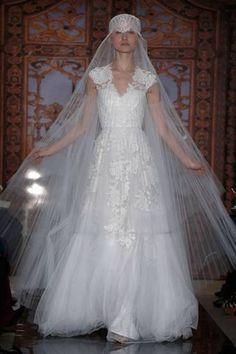 Bridal Collection Reem Acra Fall 2013 #wedding #dress