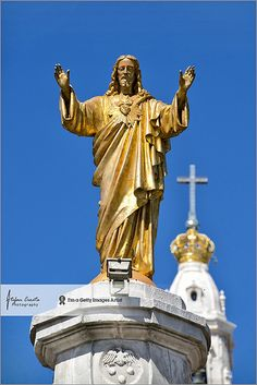 Fatima, Portugal - Image of the Sacred Heart in the center of the Shrine of Fatima.