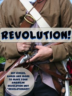"""Make your American Revolution unit come to life with the terrific links on this site! Don't miss these great videos, games, activities and even a fun taxation simulation that will make your students become a real part of """"The Revolution""""!"""
