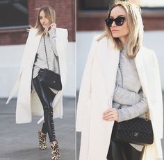 Marks & Spencer Coat, Zara Knit, Guess? Leggins, Smilingshoes Boots, Chanel Purse, Zero Uv Sunnies