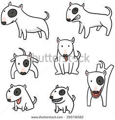 vector set of dog, bull terrier - Shutterstock Premier