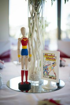 Superhero Wedding Photography - Reception - Wonder woman - Centerpiece