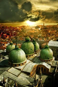 Cupole Duomo, Venice, Italy.
