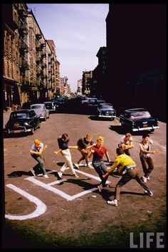 Filming of West Side Story in New York City in August 1960 by LIFE photographer Gjon Mili.
