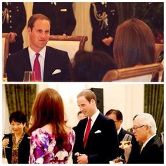 The way in which William looks at his wife....awww.