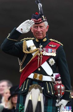 Prince Charles dressed in his regalia as Prince of Wales and Lord of the Isles to celebrate the history of British Royalty as well as the 60th anniversary of the Queen's accession to the throne
