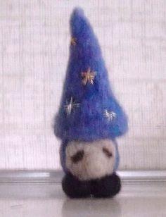 little pocket gnome wizard halloween handmade by RAINBOWFIBRES, $13.95