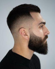 High Skin Fade Haircut, Fade Haircut With Beard, Medium Fade Haircut, Fade Haircut Styles, Beard Haircut, Beard Fade, Mens Hair With Beard, Medium Haircuts, Mens Haircuts Short Hair