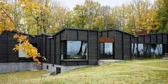 Plagued Ash Trees Were Repurposed to Create This Charred-Cedar Clad Home on Lake Michigan - Dwell