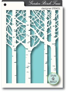 Memory Box - Stencil - Birch Trees