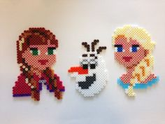 Anna, Olaf and Elsa - Frozen Hama Beads 7957