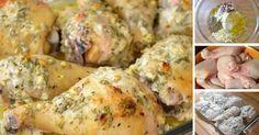 Kuřecí stehýnka marinovaná v zakysané smetaně, česneku a bylinkách