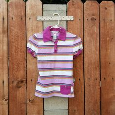 75fb933aab Fun purple lavender striped polo that looks like it could be from the 80 s.