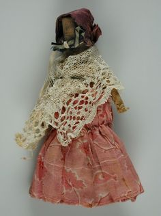 doll -  1842-1857 -    Material- cotton  Style -rag | rolled  Object ID101.375 -  National Museum of Play Online Collections