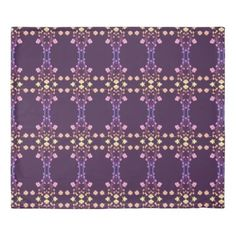 Dark Purple Fantastic King Size Duvet - purple floral style gifts flower flowers diy customize unique