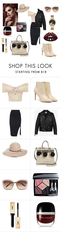 """""""Untitled #435"""" by gloriatovizi on Polyvore featuring Yves Saint Laurent, Halogen, Marc Jacobs, Chloé, Christian Dior and Michael Kors"""