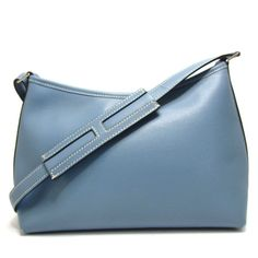 Authentic HERMES Berlango PM Shoulder Bag Leather Used  aae147d06a8ed