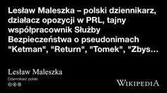 """""""Lesław Maleszka"""" på @Wikipedia: Workers Union, Poland"""
