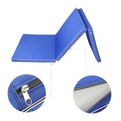 "Thick Folding Panel Gymnastics Mats Gym yoga Fitness Exercise Mat 6'x2'x2"" Blue"