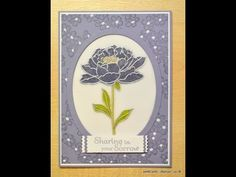 Unfortunately it was necessary for me to make a sympathy card a couple of weeks ago. I was pleased with how it came out and thought I'd share it with you. DA...