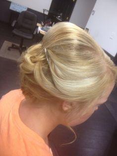 Soft updo. Hair by Callie Lathan