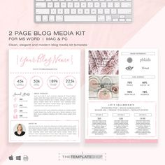 Media Kit Template 2 Page  Blog Media Kit  Press von templatesnm
