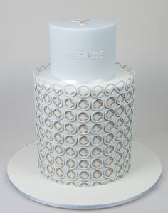 George's Christening Cake by Sweet Tiers, via Flickr
