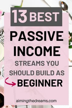 finance How to start building passive income as a beginner. Start building passive income streams today to reap the benefits tomorrow and get financial freedom in future. Take care of your future self and build to and with passive - Aimingthedreams Digital Marketing Strategy, Content Marketing, Affiliate Marketing, Online Marketing, Passive Income Streams, Creating Passive Income, Streams Of Income, Online Income, Earn Money Online