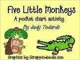 Five Little Monkeys Pocket Chart Activity Five Little Monkeys, Kindergarten Worksheets, Teacher Pay Teachers, Teaching Resources, Chart, Activities, Pocket, Education, Onderwijs