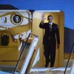 ITALIA: Barack Obama giunto a Roma: domani incontrerà il Papa, Napolitano e Renzi