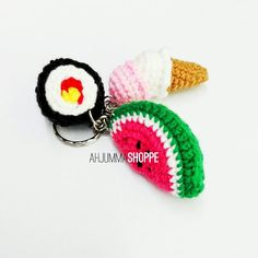 ahjumma_shoppe:: Another things going out today. Feeling blessed. Alhamdulillah. For more purchase pleas wa or dm me. Have a nice day #crochet #crochetkeychain #charm #love #amigurumi #sweet #cute #oneneedle #knitting #colorful #brownies #keychain #work #sit #helpless #handcraft #handmade #wool #benangbulu #sushi #mycraft #crafty #captured #moment #melon #malaysian #japan #idea